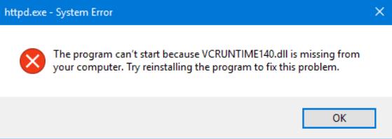 Fix VCRUNTIME140.dll Missing Error