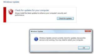 Windows Update Service Not Working