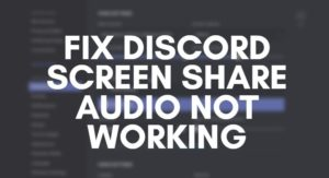 Fix Discord Screen Share Audio Not Working