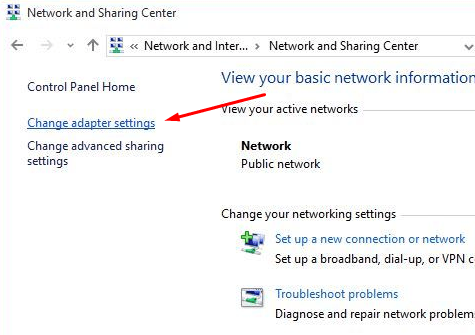 current network adapter