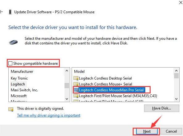 show compatible software