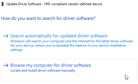 check for the driver software update