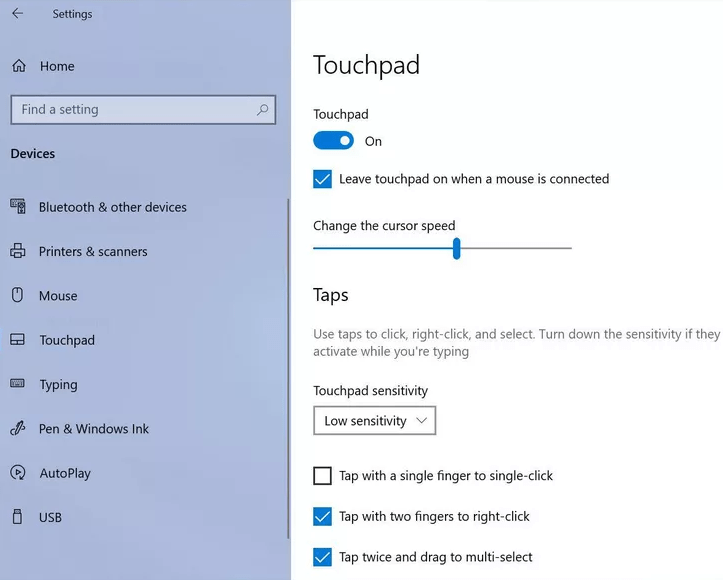 Enable the Touchpad and Scroll Function