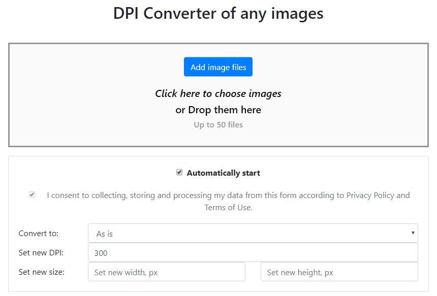 Using an online DPI calculator